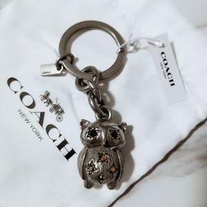 COACH 3D Owl Key Chain